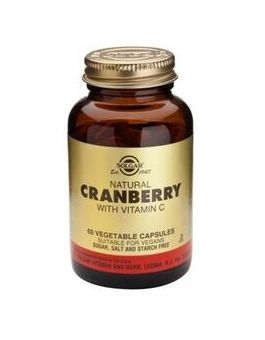 Solgar Natural Cranberry Extract with Vitamin C (60 Veg Capsules) # 955