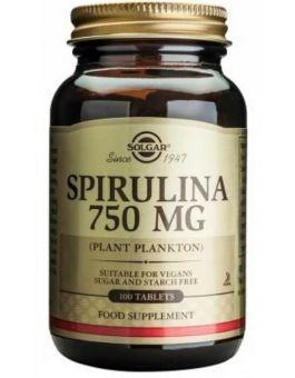 Solgar Spirulina Tablets 100% 750 mg # 2660 (100 Tablets)