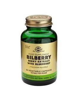 Solgar Standardised Bilberry Extract With Blueberry (60 Veg Capsules) # 4110