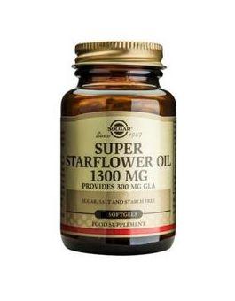 Solgar Super Starflower Oil 1300 mg (Formerley Super GLA)  60 Capsules # 2676