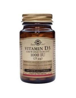 Solgar Vitamin D3 1000 iu (25 µg) 100 Softgels # 3340