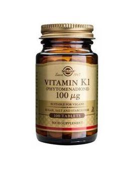 Solgar Vitamin K 100mcg # 3600 (100 Tablets)