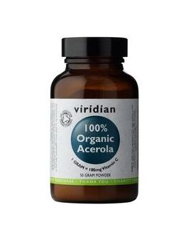 Viridian 100% Organic Acerola-Vit C Powder # 265