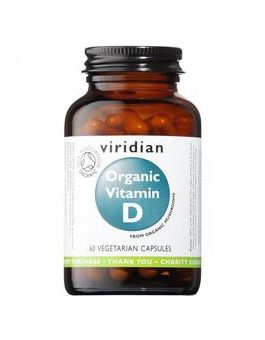Viridian Organic Vitamin D2 (Vegan) 400iu Veg Caps # 267