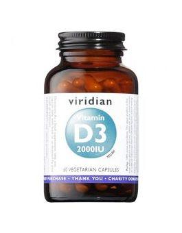 Viridian Vitamin D3 (Vegan) 2000iu Veg Caps # 274